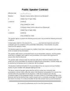 graphic design contracts public speaker contract