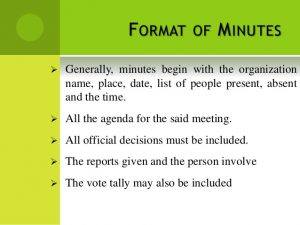 guided notes template minutes of meeting