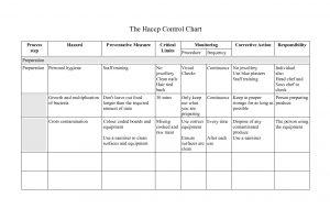 haccp plan example preparation