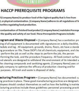 haccp plan template capture haccp pp