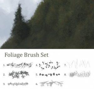hair brushes photoshop foliage free photoshop brushes
