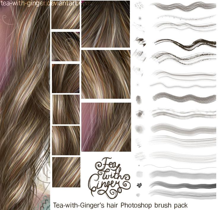 hair brushes photoshop