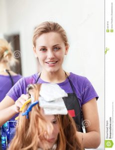 hair salon business plans woman hairdresser dye hair young girl dying her beauty salon