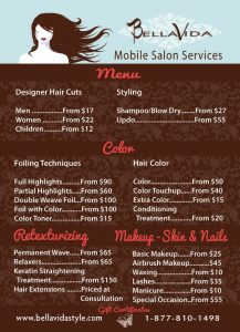 hair saloon business plan bdfccfddfeca mobile salon trailers salon menu