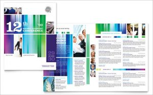 half fold brochure template business leadership conference brochure template