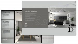 half fold brochure template interior design half fold brochure