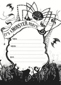 halloween party invitations templates monster party invitation
