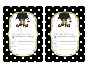 halloween party invitations templates spooktacular invite