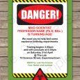 halloween party invites templates printable mad science invitation