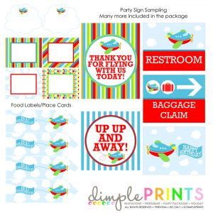 happy birthday banner template packagecollagesamplesairplanemulti
