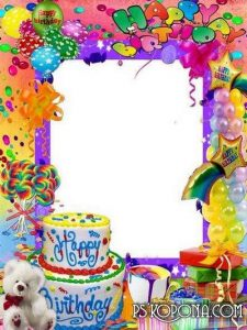 happy birthday card template frame for photoshop happy birthday