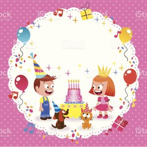happy birthday card template happy birthday card template vector id
