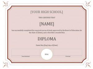 high school diploma template high school diploma template x
