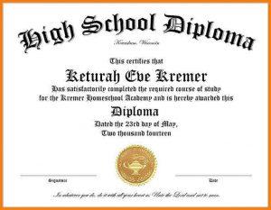 high school diploma template high school diploma template word