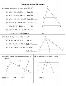 high school geometry worksheets high school geometry worksheets