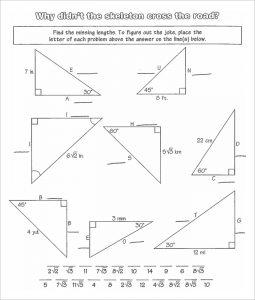 high school geometry worksheets right triangles high school worksheet template
