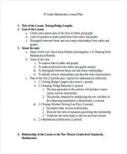 high school lesson plan template th grade math lesson plan template