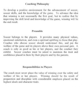 high school lesson plan template coaching philosophy preamble responsiblities to players