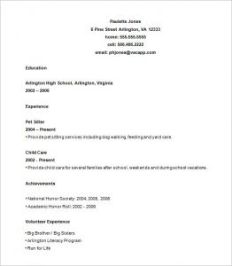 high school resume template high school resume builder
