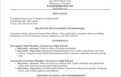 high school resume template high school student resume pdf free download