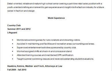 high school resumes high school resume template word