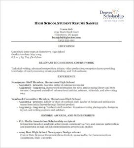 high school student resume template high school student resume pdf free download