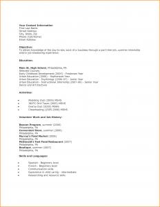 high schooler resume high school student resume first job