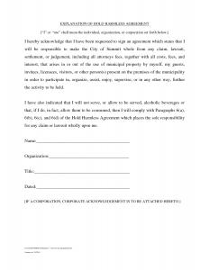 hold harmless agreement sample hold harmless agreement template kgxdlxks