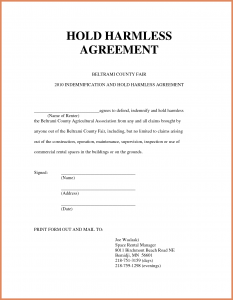 hold harmless form hold harmless agreement sample hold harmless agreement template zadxgpt