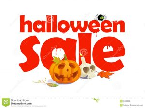 holiday flyer template halloween sale design letters blood written