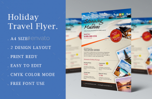 holiday flyer template travelflyer