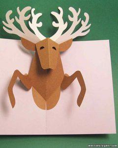 holiday newsletter template reindeercard xl