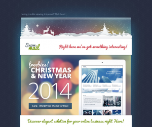 holiday newsletter template christmas email template free psd