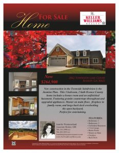 home for sale flyer townside lake court flyer x