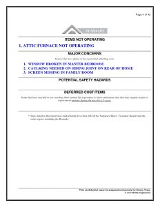 home inspection report template sample report denver home inspection waldo home inspection