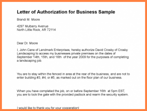 home offer letter template company authorization letter sample letter of authorization for business sample