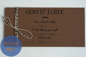 homemade gift certificates the petit cadeau printable gift certificates for men