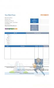 hotel receipt template hotel bill business traveler printed