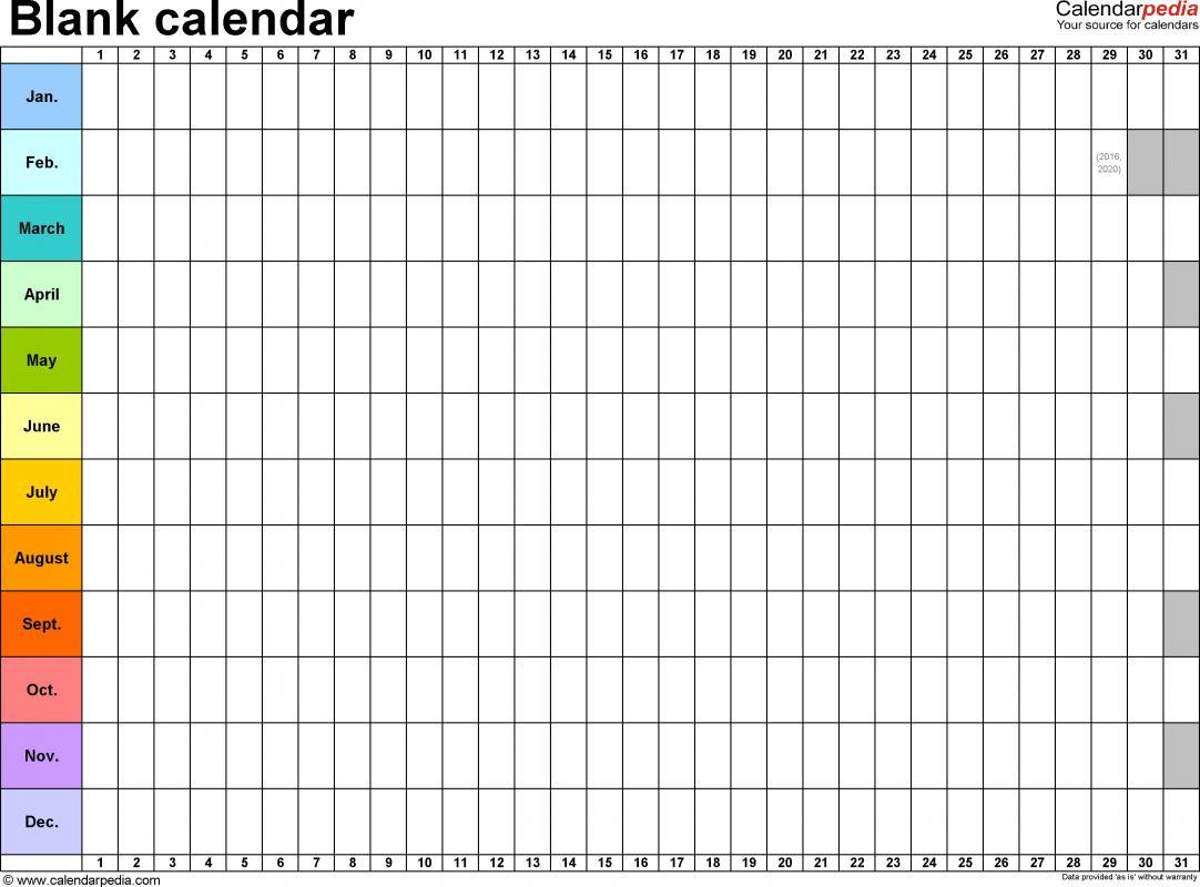 hourly calendar template