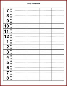 hourly calendar template hourly schedule excel template amitdhullco pictures