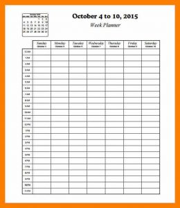hourly calendar template hourly schedule printable