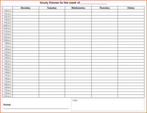 hourly planner template free printable calendar hourly printable calendar format