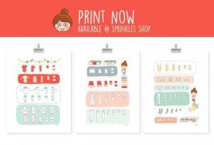 house cleaning checklist pdf juju sprinkles konmari set print now e