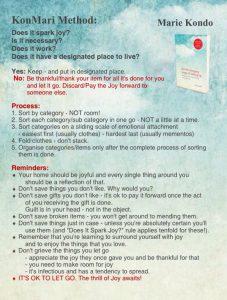 house cleaning checklist pdf konmari method true north comfort blog