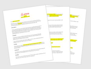 house offer letter template airbnb house rules