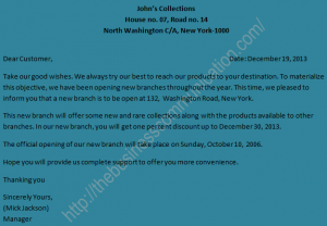 house offer letter template sample a circular letter announcing opening a new branch