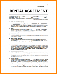 House Rental Agreement Template Business