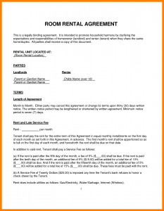 house rental agreement template rental agreements for a room