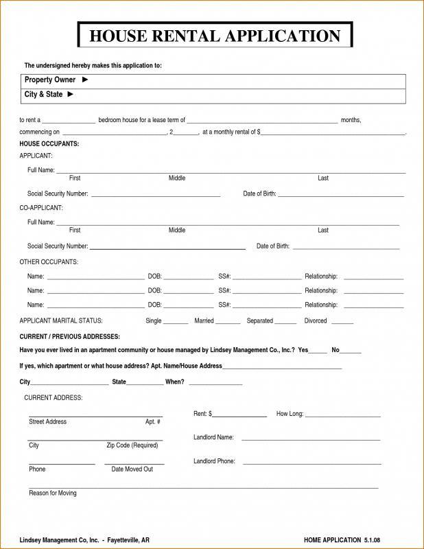 house rental application