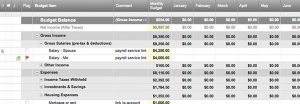 household inventory list monthly budget tracker x